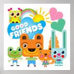 Buenos amigos de los animales poster