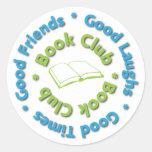 buenos amigos del círculo de lectores pegatinas redondas