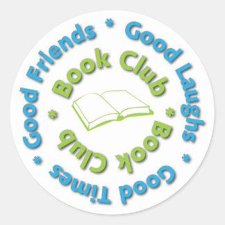 buenos amigos del círculo de lectores pegatina redonda