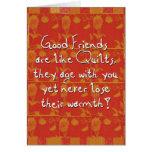 buenos amigos que saludan tarjeta