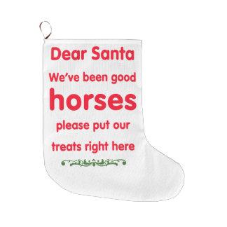 buenos caballos calcetín de navidad grande
