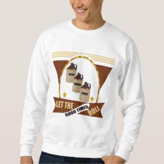Buenos camisetas y regalos de la cerveza del rollo suéter