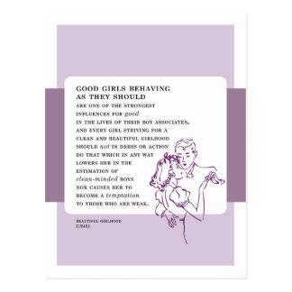Buenos chicas que se comportan consejo del malo postal