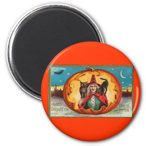 Buenos deseos para Halloween Imán Redondo 5 Cm