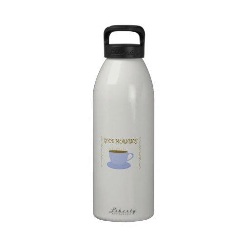 Buenos días botella de agua