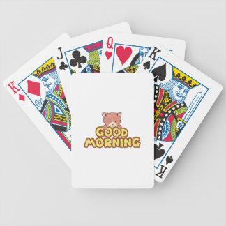 Buenos días baraja cartas de poker