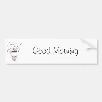 Buenos días pegatina de parachoque