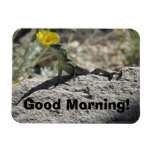 ¡Buenos días! Imán del lagarto