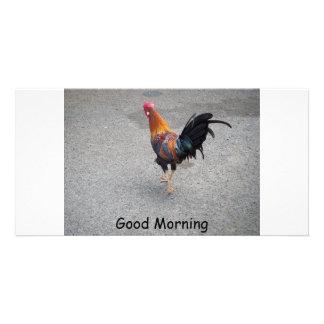 Buenos días tarjetas fotográficas