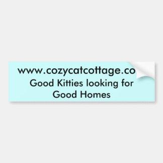 Buenos gatitos que miran para los buenos hogares pegatina para auto