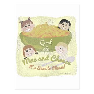 Buenos mac y queso viejos tarjetas postales