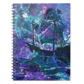 """BUENOS SUEÑOS: """"Niebla púrpura del pirata """" Cuaderno"""