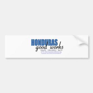 Buenos trabajos de Honduras Etiqueta De Parachoque