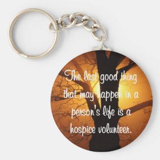 Buenos trabajos del voluntario del hospicio llavero redondo tipo pin