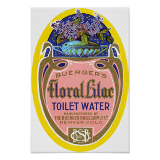 Buerger's Floral Lilac Toilet Water Poster