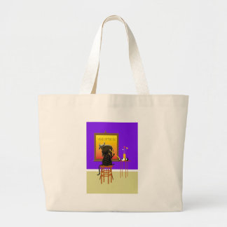 Buey 2009 de la pintura del gato bolsas de mano