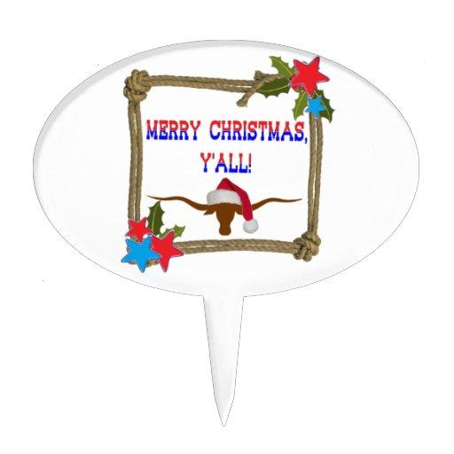 Buey de Santa - Felices Navidad usted Figuras De Tarta