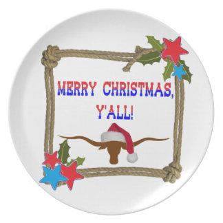 Buey de Santa - Felices Navidad usted Platos Para Fiestas