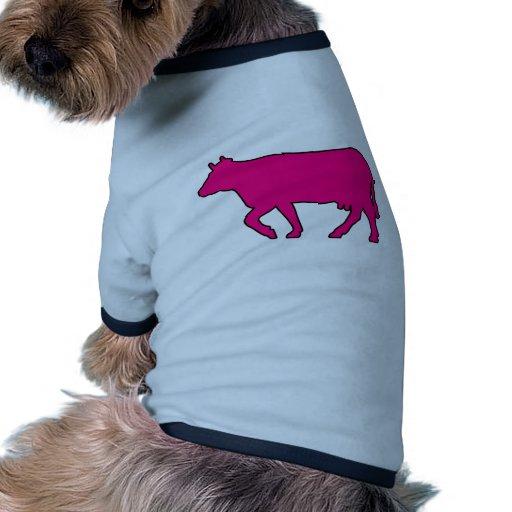 Buey del MOO Bull de los ganados vacunos de la sil Camisa De Perro