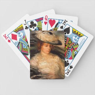 Buey-Retrato de Philip de ms Scobell en un Bathcha Baraja Cartas De Poker