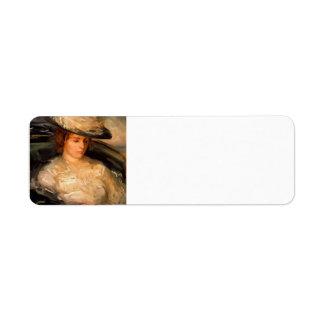 Buey-Retrato de Philip de ms Scobell en un Bathcha Etiquetas De Remite