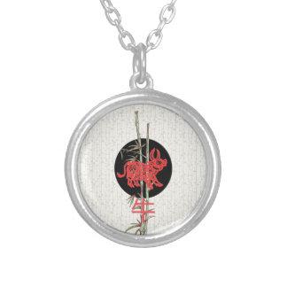 Buey (zodiaco chino) colgante redondo