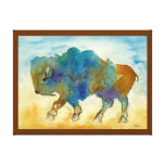 Búfalo abstracto lona envuelta para galerias