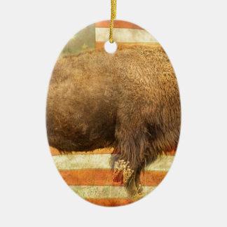 Búfalo americano ornamento de navidad