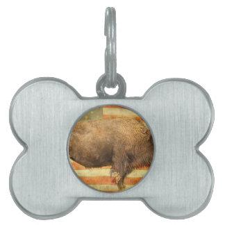 Búfalo americano placas mascota