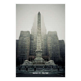 Búfalo,    ayuntamiento NY Posters