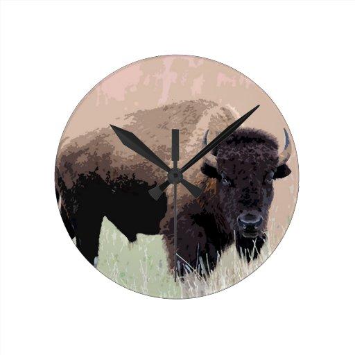 Búfalo/bisonte Relojes De Pared