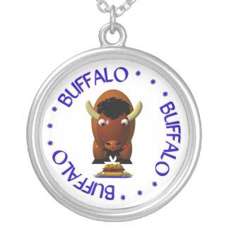 Búfalo con carne de vaca en Weck y las alas de búf Colgante Redondo