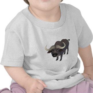 Búfalo de agua del dibujo animado camiseta