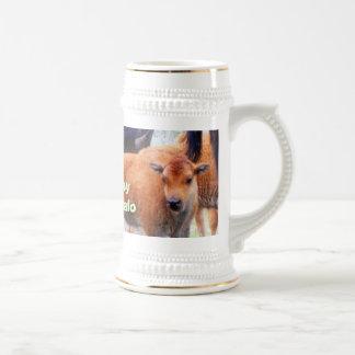 Búfalo del bebé - taza, taza de café, taza del