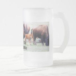 Búfalo del bebé - taza, taza de café, taza del via