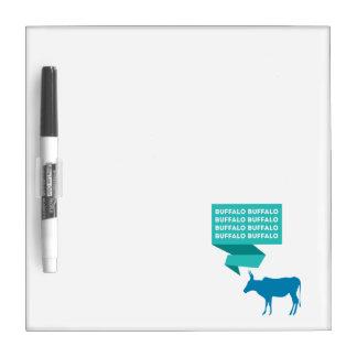 Búfalo del búfalo pizarra blanca