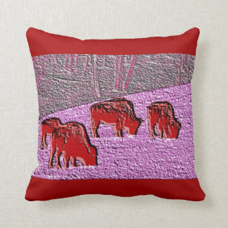 Búfalo del rosa del arte pop almohada