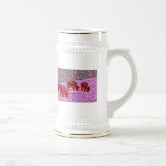 Búfalo del rosa del arte pop tazas de café