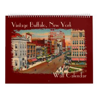 Búfalo del vintage, calendario de pared de NY