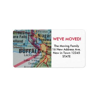 Búfalo hemos movido la etiqueta etiquetas de dirección