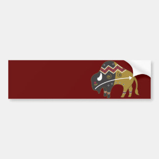Búfalo indio tribal etiqueta de parachoque