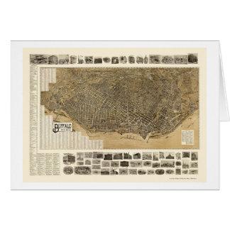 Búfalo, mapa panorámico de NY - 1902 Tarjeta