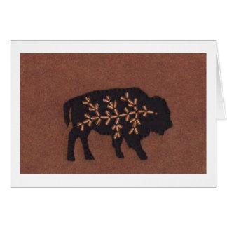 Búfalo negro en Brown Tarjeta Pequeña