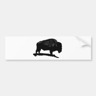 Búfalo negro y blanco pegatina para auto