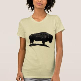 Búfalo negro y blanco playeras