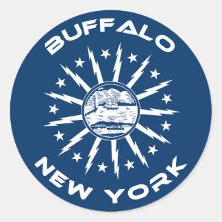 Búfalo Nueva York Pegatina Redonda