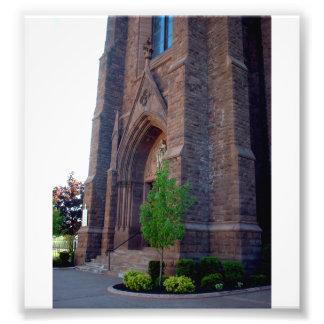 Búfalo NY de la entrada de la puerta de la iglesia Arte Fotográfico