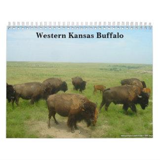 Búfalo occidental de Kansas Calendario