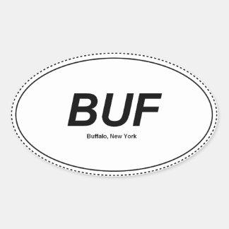 Búfalo, pegatina para el parachoques del óvalo de
