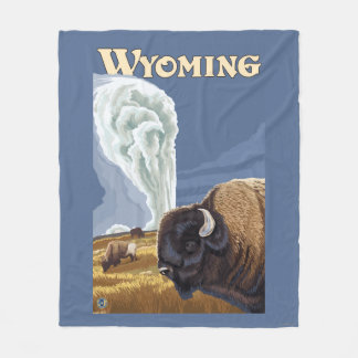 Búfalo por el poster fiel viejo del viaje del manta de forro polar